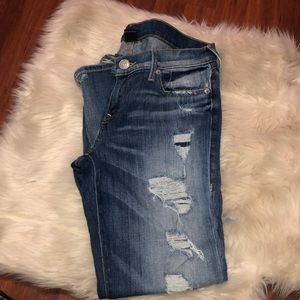 Cameron Boyfriend Distressed True Religion Denim